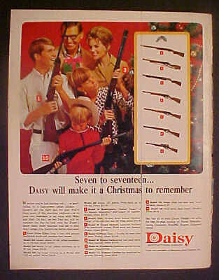 1966 Daisy B-B Gun Rifles Boys Christmas Toy Promo Ad