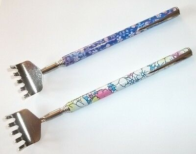 Telescopic Floral Backscratcher w/ Pocket clip