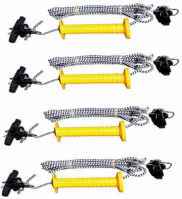 4 x 7m Electric Fencing BUNGEE GATE KIT with Handle & Cord BULK BUY DEAL