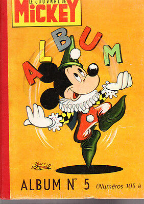 Journal de MICKEY. Album n°5 - n°105 à 130 - 1954. TTB