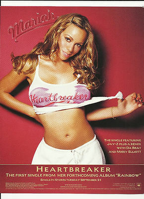 MARIAH CAREY & MARY J. BLIGE Trade AD POSTER of 99 CD J