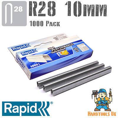 Rapid R28 10mm Cable Staples 1000 Pk -  R28, Arrow T18, Rapesco CT45, Novus J19S