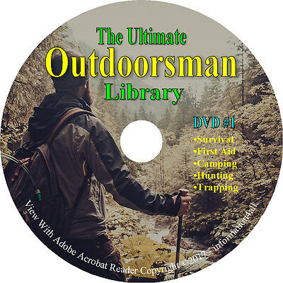 446 Books on DVD, The Ultimate Outdoorsman Library, Survival Trap Hunt Taxidermy