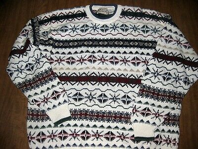 COTTON TRADERS knit sweater XL acrylic vintage retro