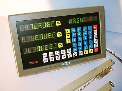Digital ReadOut DRO kit w Glass scales Lathe 2 axis NEW