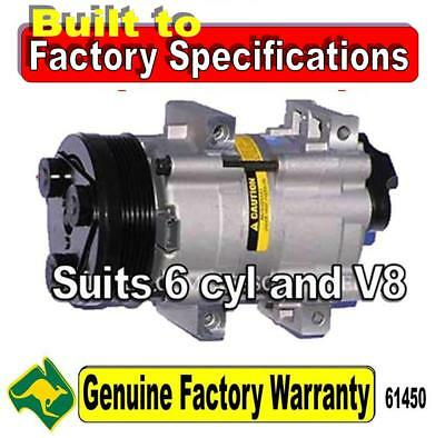 Ford Falcon AU 6 cyl V8 air con conditioning AIRCON Compressor ac pump 61450