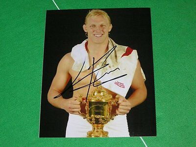 England Lewis Moody Signed 2003 Rugby World Cup Winners Celebration Photograph