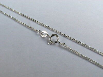 16 inch Sterling Silver Fine Curb Chain Necklace with Spring Clasp Made in Italy