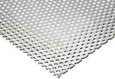 "PERFORATED ALUMINUM SHEET .032 x 24"" x 24"" 1/8"" HOLES, 3/16"" Staggered Centers"