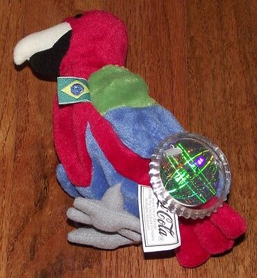 Coca Cola International Collection Bean Bag Plush Barrot the Parrot Brazil