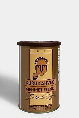 TRADITIONAL TURKISH COFFEE KURUKAHVECI MEHMET EFENDI THE BEST TIN BOX 250g-8.8oz