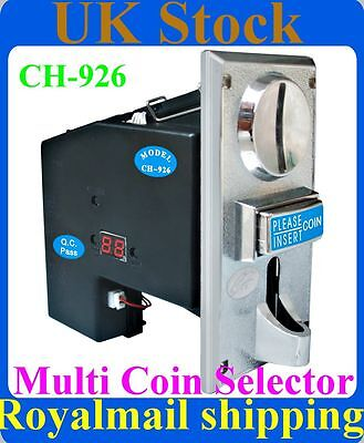 Multi Coin Acceptor Selector Mechanism for UK coins £ 1,£ 2, 5p, 10p, 20p, 50p