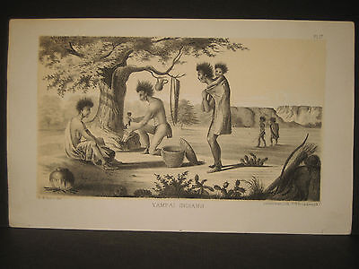 R. H. Kern, Yampai Indians, litho 1854