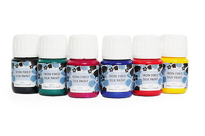 Silk Painting Iron Fixed Silk Paints 30ml - PACK OF 6!