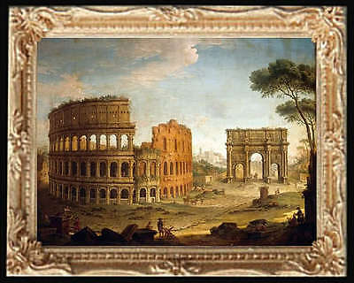 ROMAN COLOSSEUM Dollhouse Miniature FRAMED Art Picture - MADE IN AMERICA