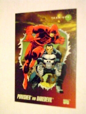 Marvel Universe 1992 Series 3 Iii Base Card #92 Daredevil & Punisher
