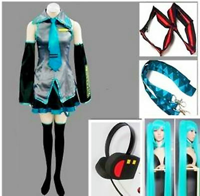 Vocaloid Miku Hatsune Cosplay Costume & wig Full Set
