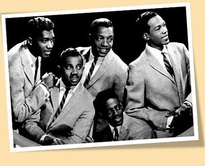 TEMPTATIONS MOTOWN OLDIES MUSIC SEPIA PRINT POSTER SIZE