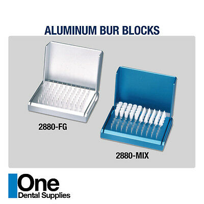 Dental Bur Blocks Aluminum 80 Holes 2 pcs