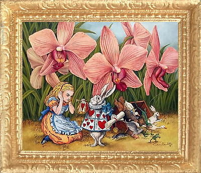 MADE IN AMERICA FAST DELIVERY ALICE IN WONDERLAND Miniature Dollhouse Picture