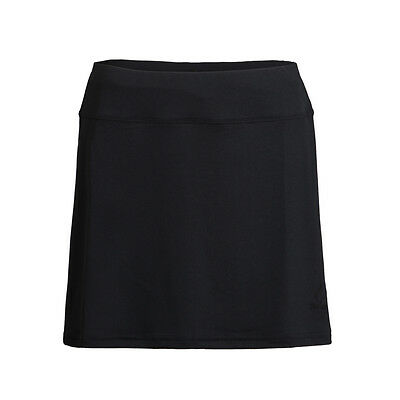 Women Black Tennis Skirt WITH Compression Shorts Skort XS, S, M, L, XL 15 inches