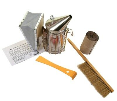 Beekeeping Stainless Steel Smoker Hive Tool and Bee Brush