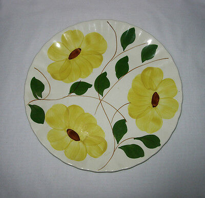 Vintage Blue Ridge Southern Potteries Luncheon Plate Daisy Yellow Brown Flowers!