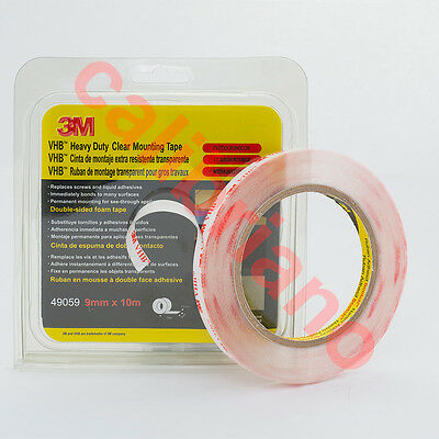 3M VHB Heavy Duty Mounting Clear Tape 4905. Wide 9 mm