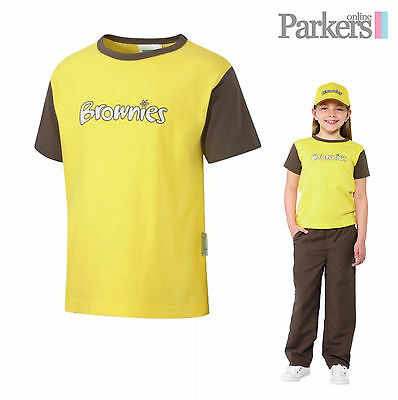 "New Brownies Short Sleeve T-Shirt Top Brownies Girl Guides Uniform Size 26""-36"""