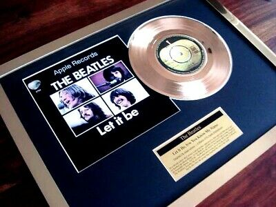 "The Beatles Let It Be 24Ct Gold Plated Disc 7"" Single Record Disc Award"