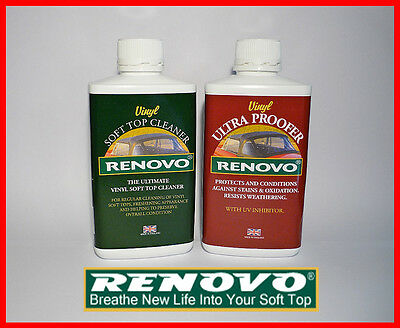 "Renovo,Vinyl, Soft Top, Hood, ""Cleaning & Proofing Kit"". (2 x 500ml.)"