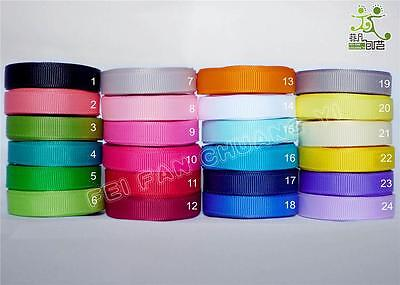 "5/25/91 metres Grosgrain RIBBON 9mm 3/8"" high quality (24 colors U pick) craft"