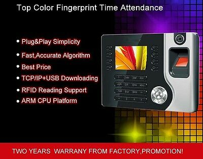 NEW FINGERPRINT AND RFID Card Attendance Time Clock For