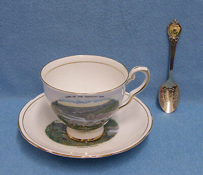 Vintage Alaska Souvenirs China Cup and Saucer and Spoon