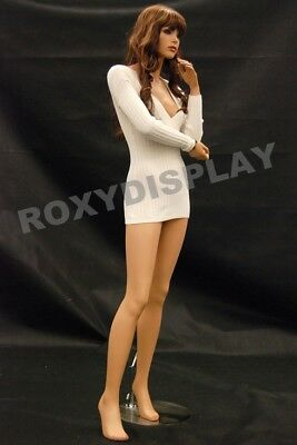Fiberglass Female Mannequin Manequin Manikin Dress Form Display MD-FR10+Free Wig