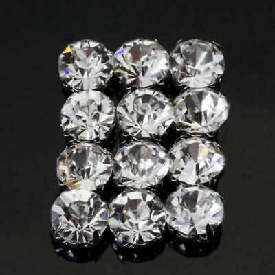 12pcs Loose Faceted Sew On Crystal DIAMANTE Rhinestone Beads 10mm Jewelry Making