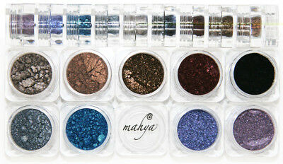 "MAHYA ""Gothic"" 100% Pure Mineral Multi-Purpose Eyeshadows 9 Colors Stack NEW"