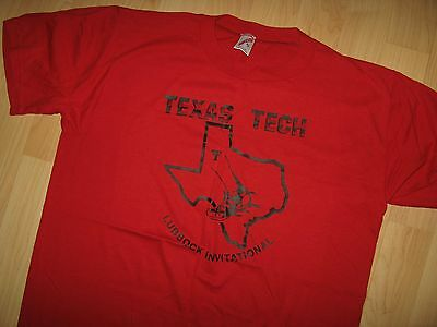 Texas Tech 1970's Tee - University Track  Field Lubbock Vintage Thin T Shirt XL