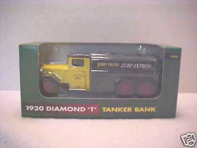 "JOHN DEERE/ERTL 1930 DIAMOND ""T"" TANKER BANK-1995-1/40 SCALE-VHTF-MIB"
