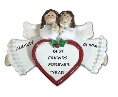 Personalized Angel Friends / Sisters Are Special Christmas Ornament