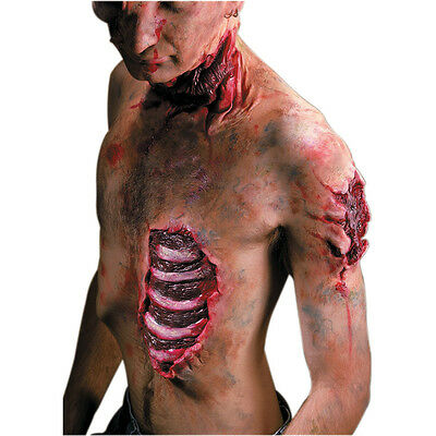 Fake Open Chest Wound Spare Ribs Reel F/x Bones Special Effect Cut Prosthetic