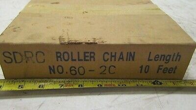 SDRC Double Roller Chain 60-2C Cottered 10ft New in Box