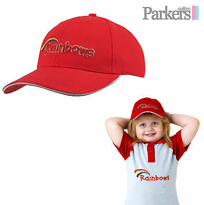 Brand New Rainbows Baseball Cap Brownies Girl Guides Uniform One Size