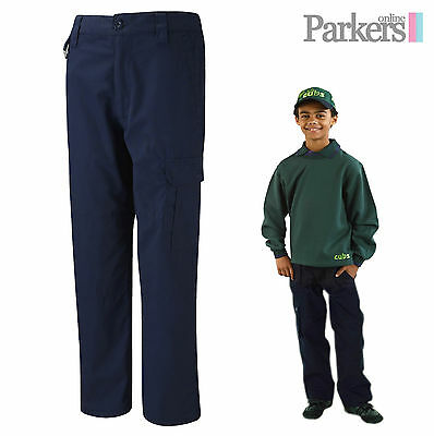 Brand New Navy Blue Activity Trousers Beavers Cubs Scouts Size 5-6Years-13 Years