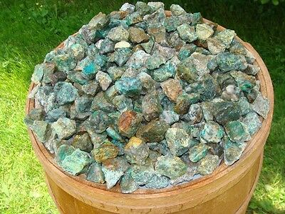 1000 Carat Lots of Unsearched Natural Chrysocolla Rough + FREE faceted Gemstone