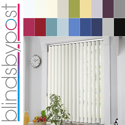 Made to Measure PVC Thermal Blackout Fabric Complete Vertical Blinds - Unilux
