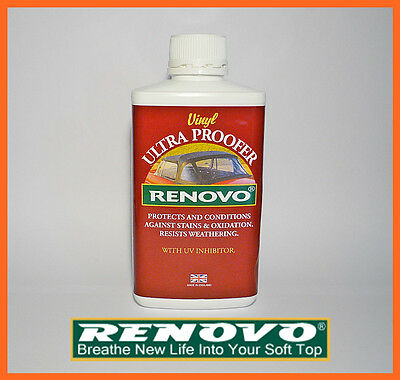 "Renovo,Vinyl, Soft Top, Hood, ""Ultra Proofer""."