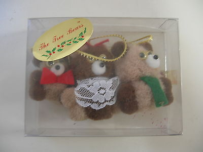 The Tree Bears, christmas tree ornaments, vintage 1984, still Brand New & Sealed