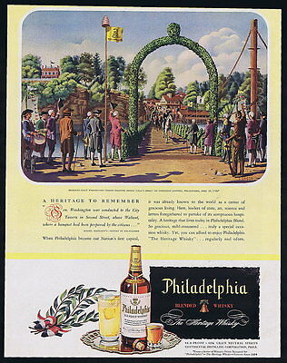 1946 Philadelphia Whisky George Washington 1789 Greco Vintage Print Ad