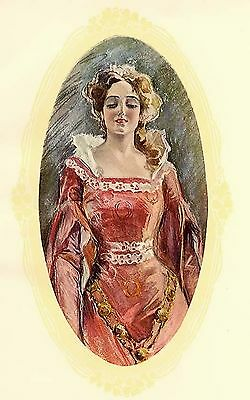 Vintage Lady 16~counted cross stitch pattern #1262~People Ladies Graph Chart